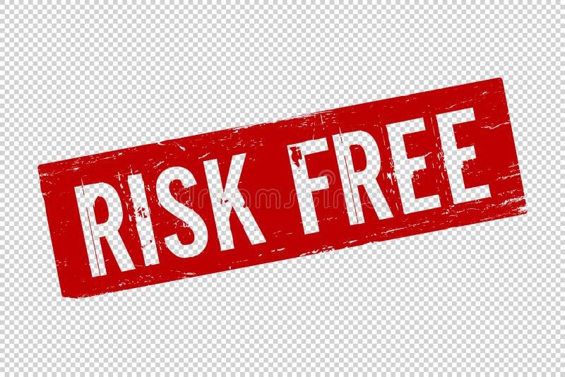 Grunge czerwonego ryzyka bezp?atna kwadratowa guma ilustracja wektor