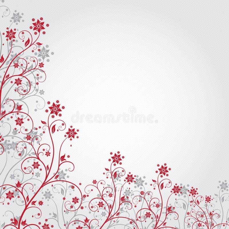 Grunge czerwony kwiat ilustracja wektor