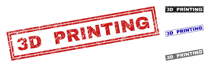 Grunge 3D DRUKUJE Textured prostokątów Watermarks ilustracji