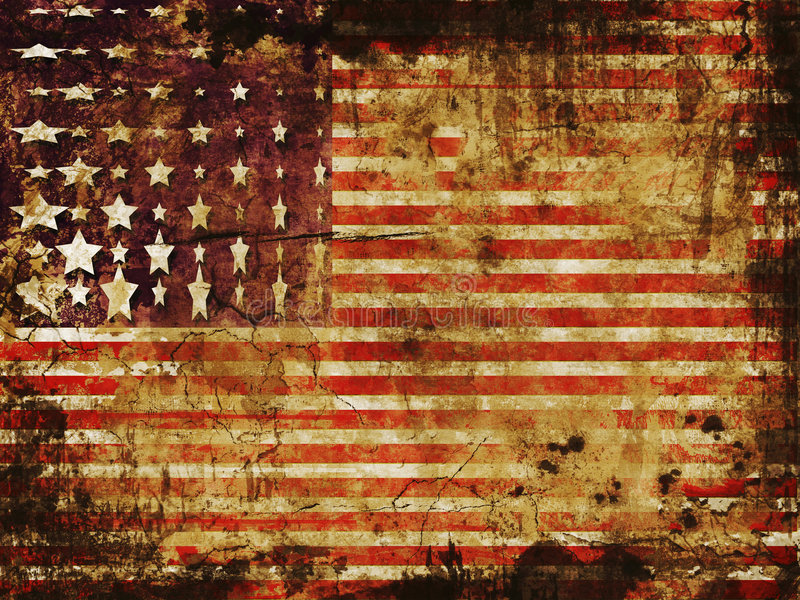 Grunge d'indicateur américain illustration libre de droits