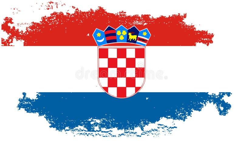 Drapeau grunge de la Croatie image libre de droits