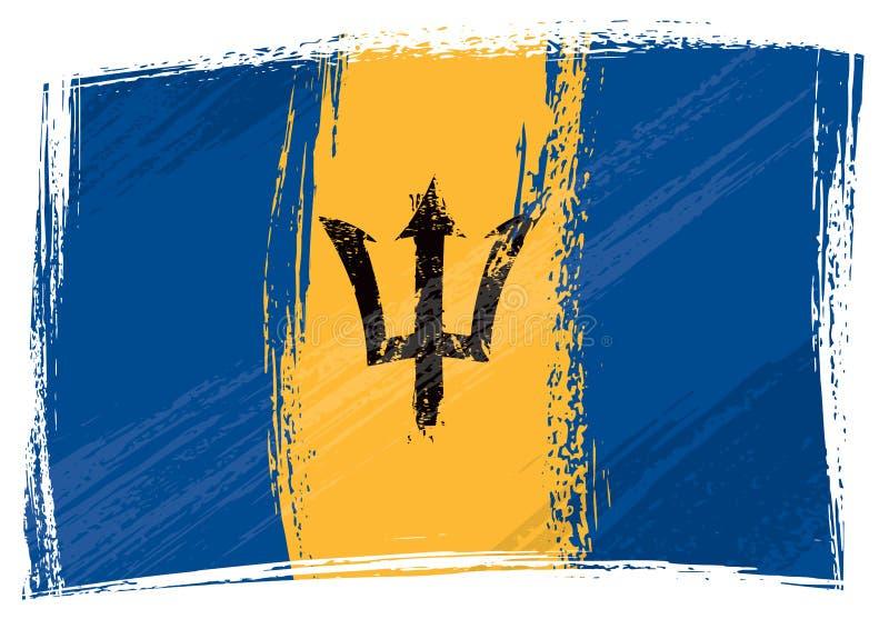 grunge d'indicateur des Barbade illustration libre de droits
