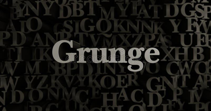 Grunge - 3D a rendu l'illustration composée métallique de titre illustration de vecteur