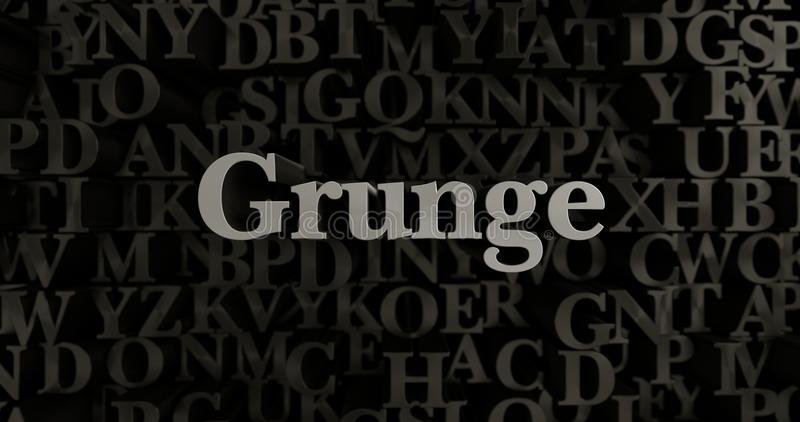 Grunge - 3D rindió el ejemplo compuesto tipo metálico del título ilustración del vector