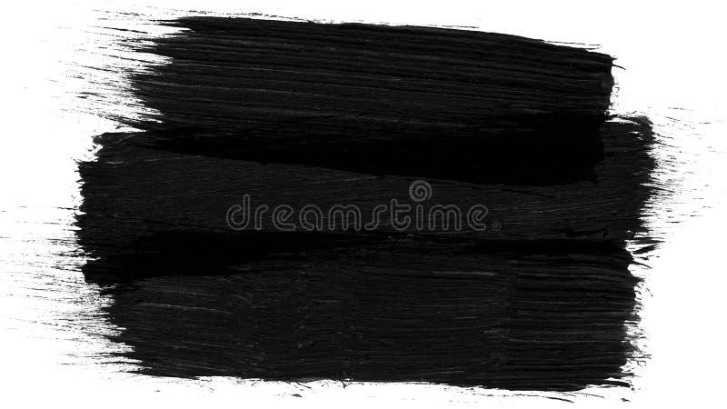 Grunge da animação - escove o curso em um fundo branco Elemento pintado à mão abstrato A escova do Grunge afaga a animação imagem de stock royalty free