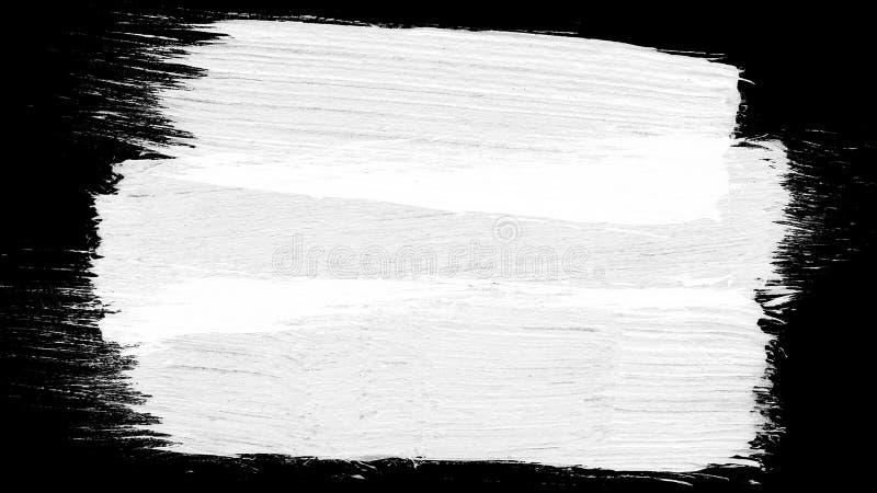 Grunge da animação - escove o curso em um fundo branco Elemento pintado à mão abstrato A escova do Grunge afaga a animação fotografia de stock royalty free