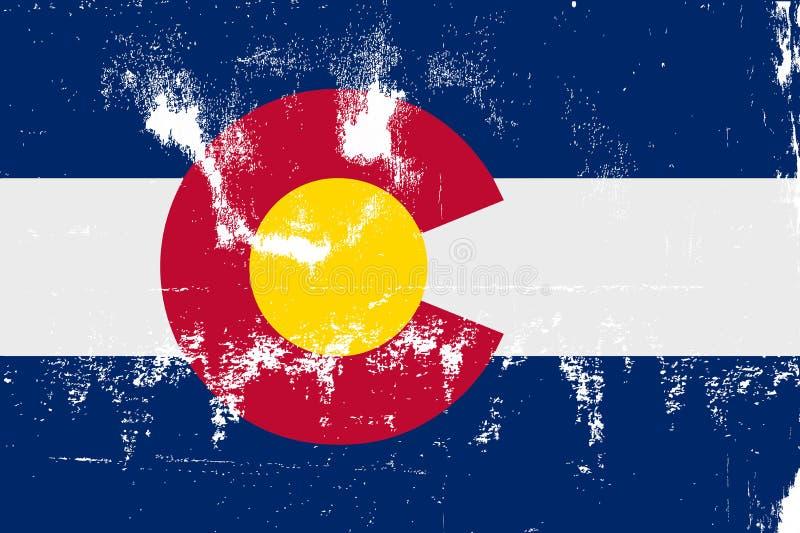 Grunge da bandeira do estado de Colorado ilustração royalty free