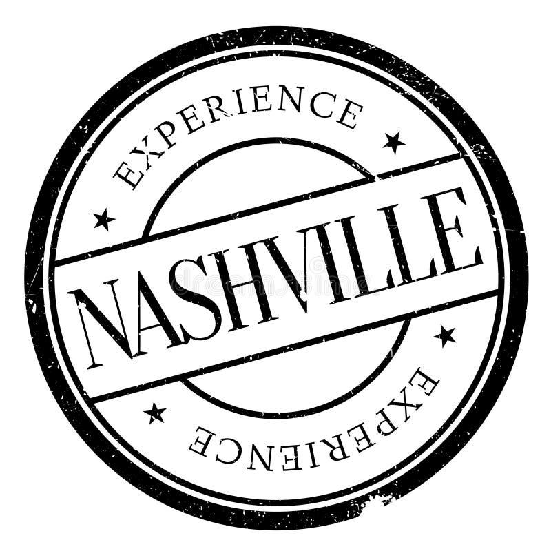 Grunge da borracha do selo de Nashville foto de stock