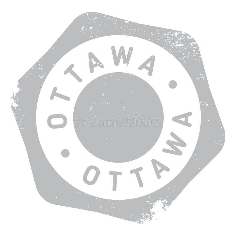 Grunge da borracha do selo de Ottawa ilustração do vetor