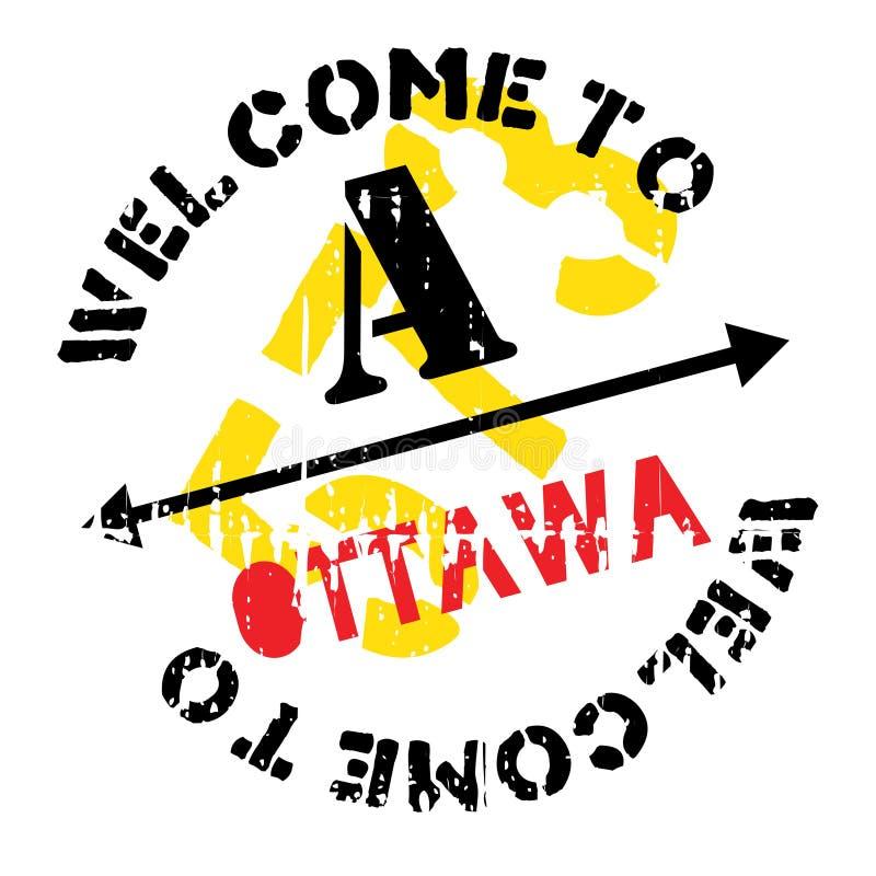 Grunge da borracha do selo de Ottawa ilustração stock
