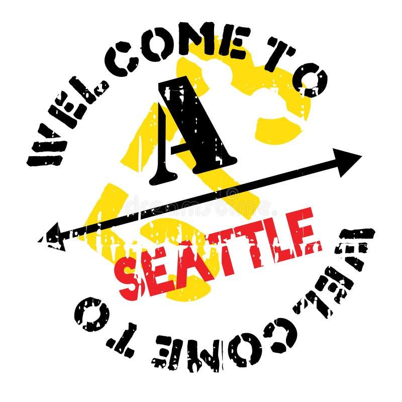 Grunge da borracha do selo de Seattle imagem de stock