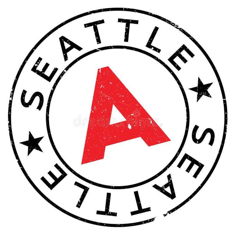 Grunge da borracha do selo de Seattle foto de stock royalty free
