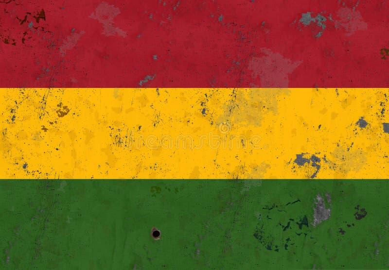 Grunge da História Negra da Bandeira Africana imagem de stock