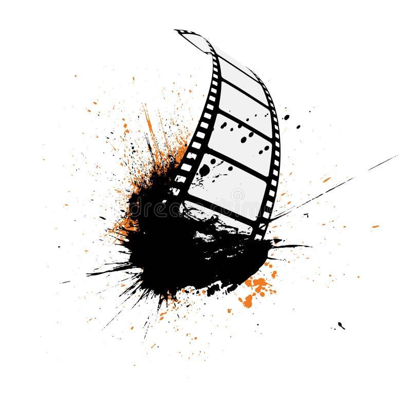 Grunge da tira da película ilustração stock