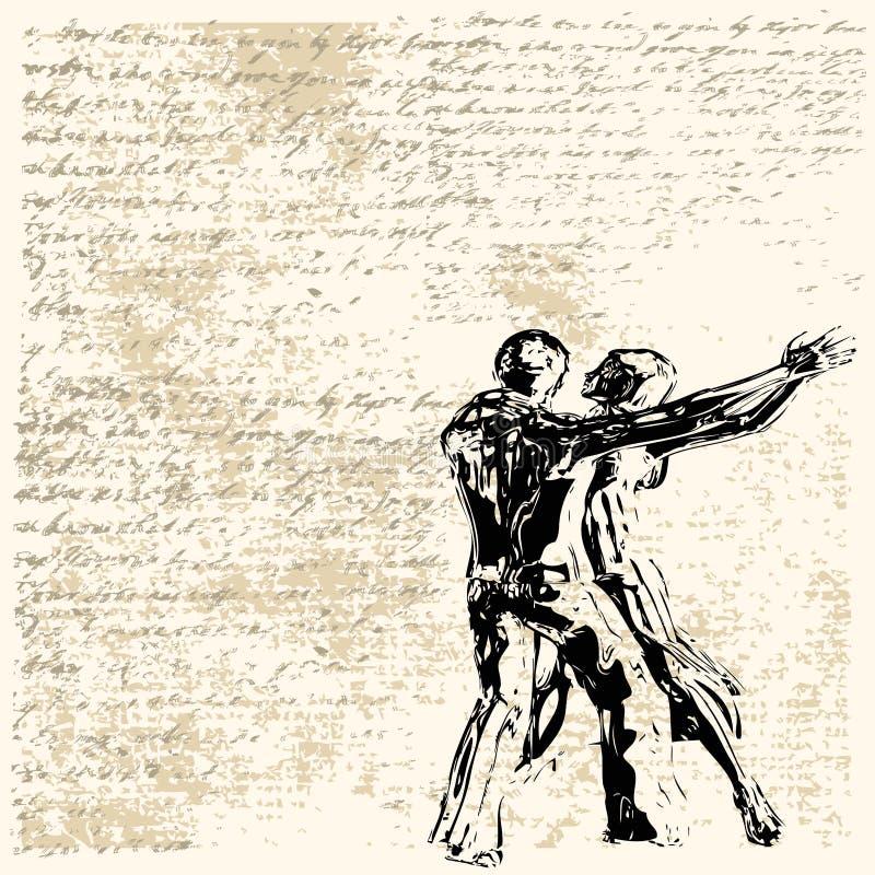Grunge Dance vector illustration