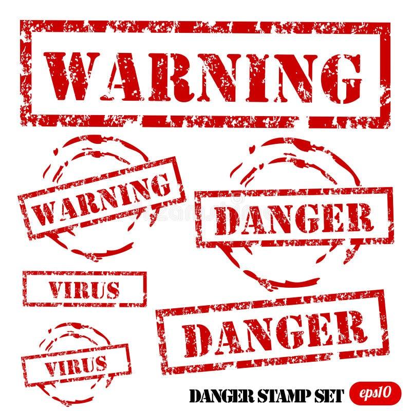 Grunge Danger stamp set royalty free illustration