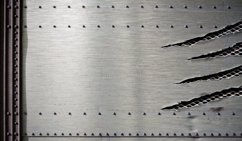 Grunge danificou o molde do metal com bordas rasgadas fotografia de stock royalty free