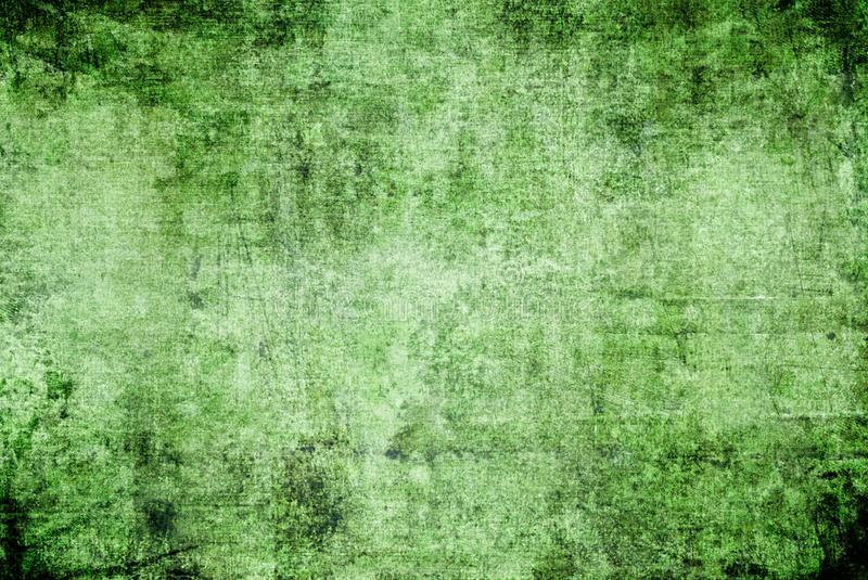 Grunge Dark Green Black Rusty Distorted Decay Old Abstract Canvas Painting Texture Pattern for Autumn Background Wallpaper. Strokes Brush Scratch Green Black royalty free stock photos