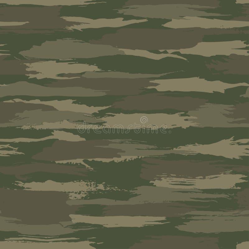 Free Grunge Dark Green Camouflage, Modern Fashion Design. Camo Made Brush Strokes Hand Draws Pattern. Stock Images - 152048314