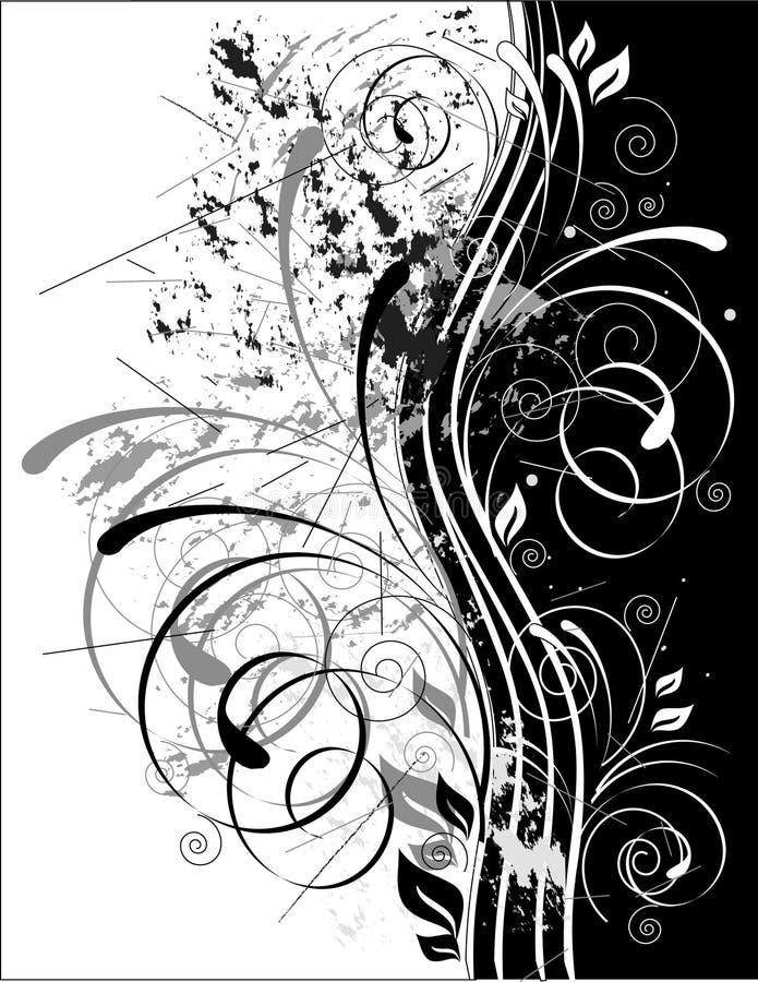 Grunge de B&w illustration libre de droits