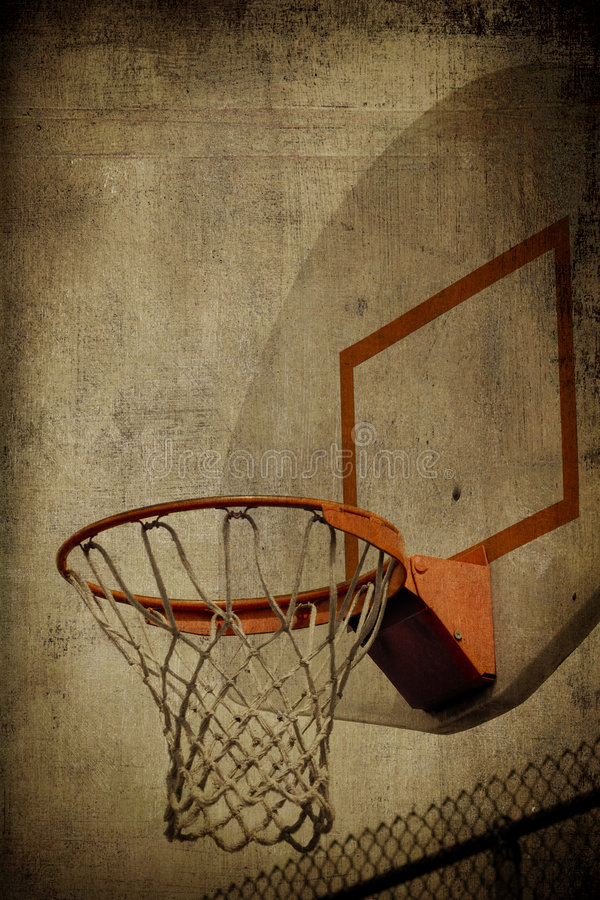 grunge de basket-ball de panier photos stock
