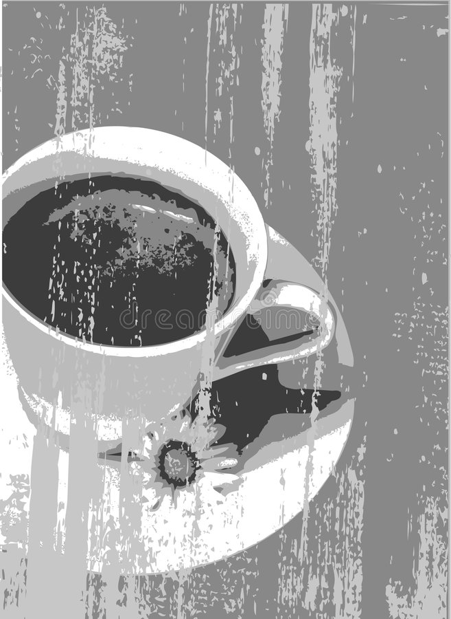 Grunge de Coffe imagem de stock royalty free