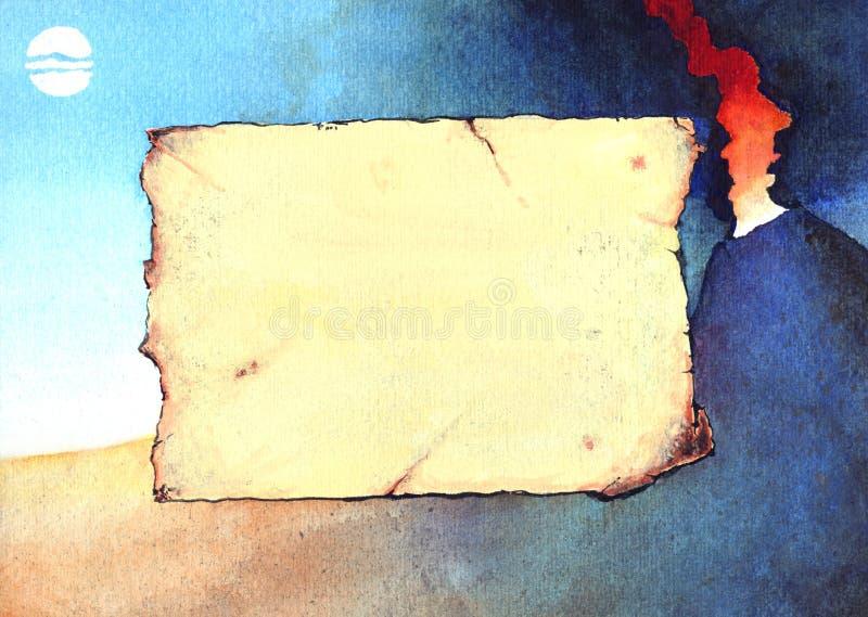 Grunge de fond de volcan illustration stock