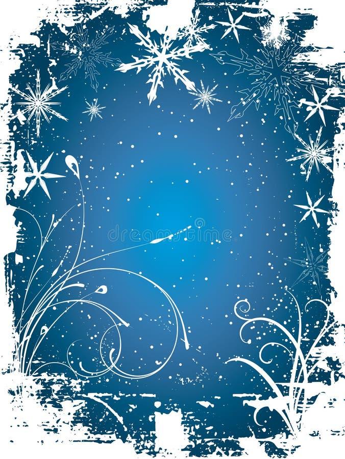 Grunge de l'hiver illustration de vecteur