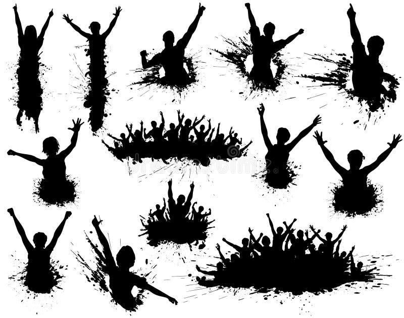 Grunge de la celebración stock de ilustración