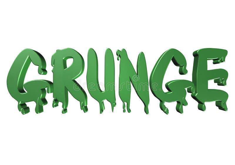 grunge de la tipografía del diseño 3D libre illustration