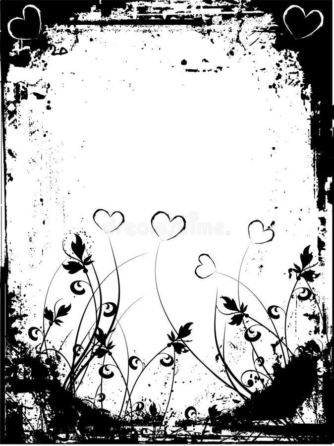 Grunge de las tarjetas del día de San Valentín libre illustration