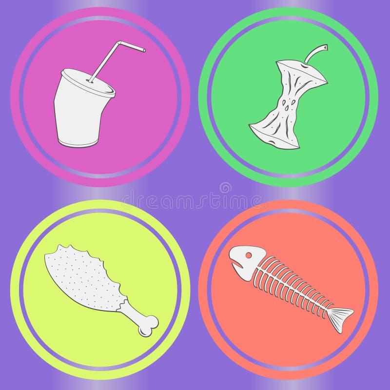 Grunge de leavings de nourriture sans joint illustration stock