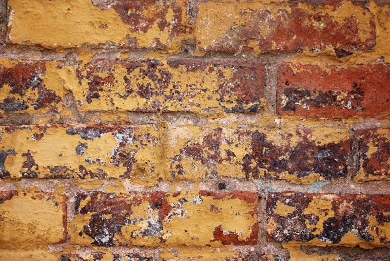 Grunge de mur de briques images libres de droits