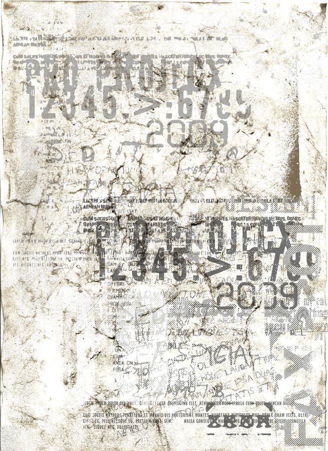 Grunge de papel ilustración del vector