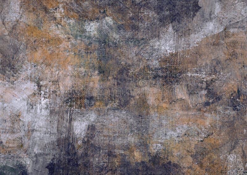 Grunge de pintura abstrato escuro Rusty Distorted Decay Old Texture de Grey Brown Black Stones Canvas para Autumn Background Wall fotos de stock royalty free