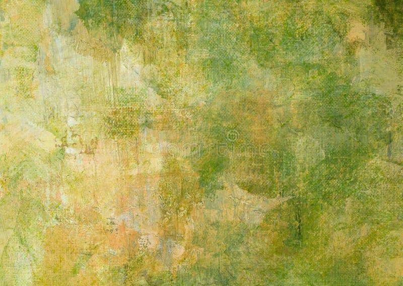 Grunge de pintura verde amarillo Rusty Distorted Decay Old Texture oscuro del extracto oscuro de la lona de Brown para Autumn Bac fotografía de archivo libre de regalías