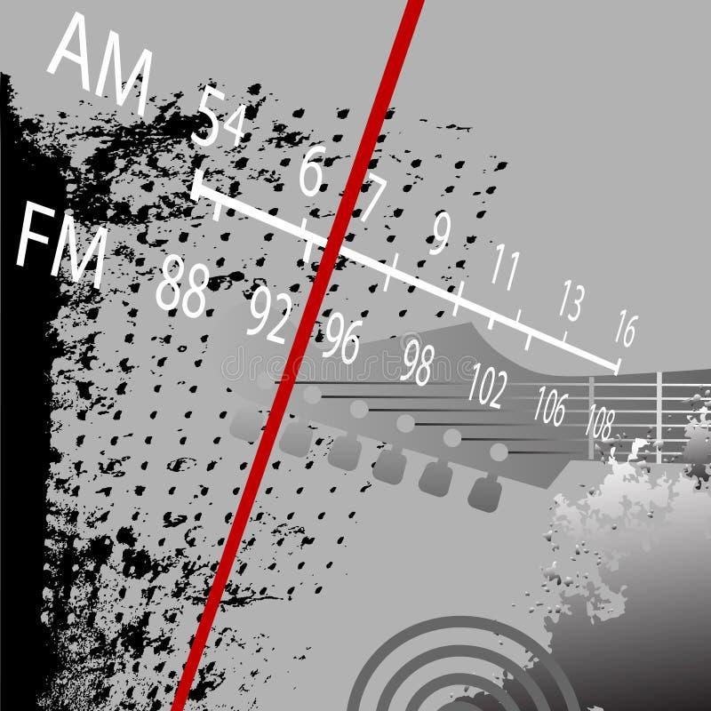 Grunge de radio FM retro ilustración del vector