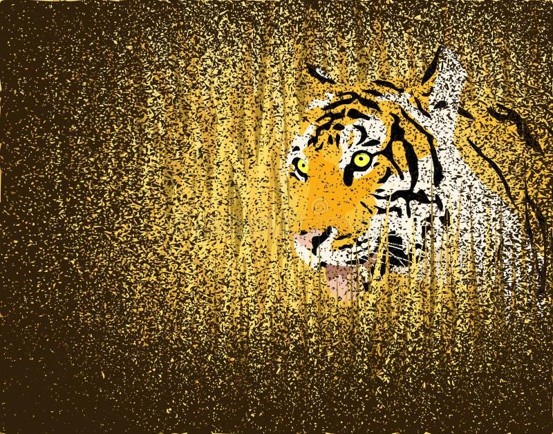 Grunge de tigre illustration stock