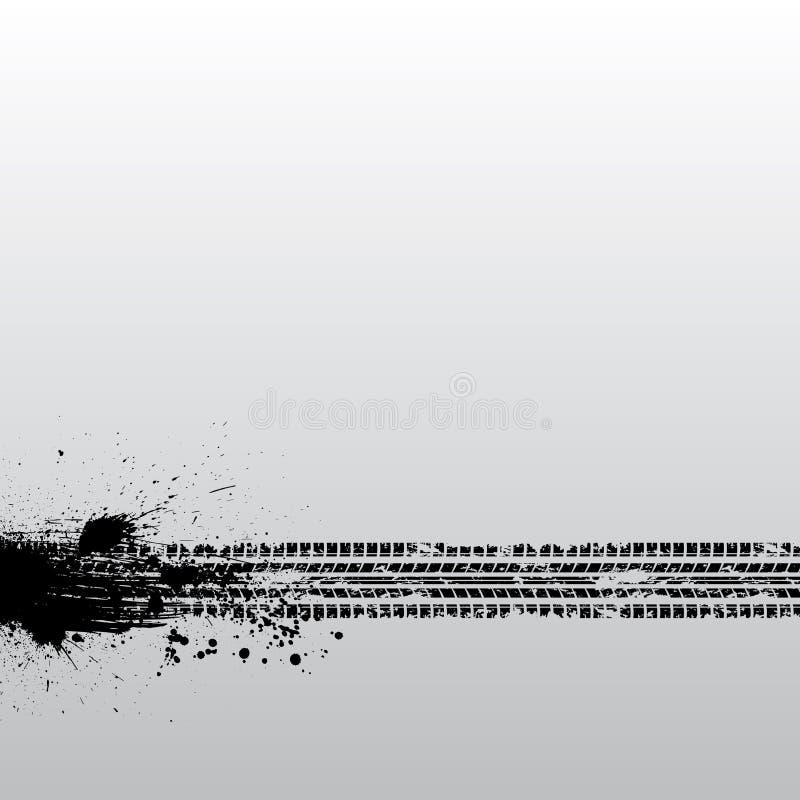 Grunge de voie de pneu illustration de vecteur