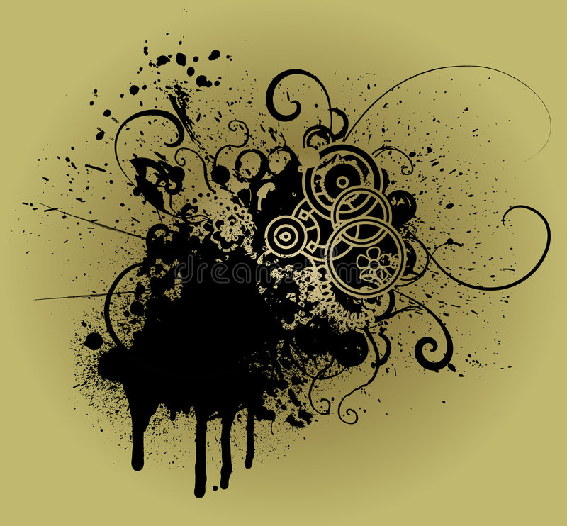 Grunge decorative element. Industrial/urban splash design element royalty free illustration