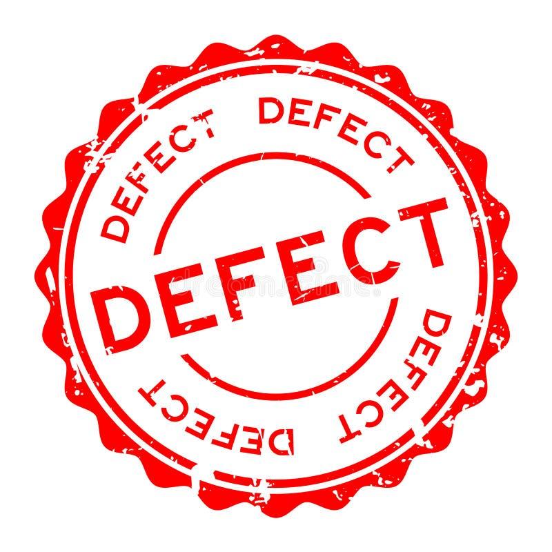 Grunge defektu słowa czerwonego round foki gumowy znaczek na białym tle ilustracji