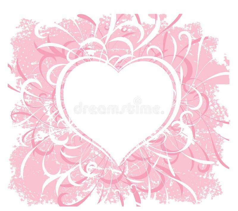 Grunge dei biglietti di S. Valentino royalty illustrazione gratis