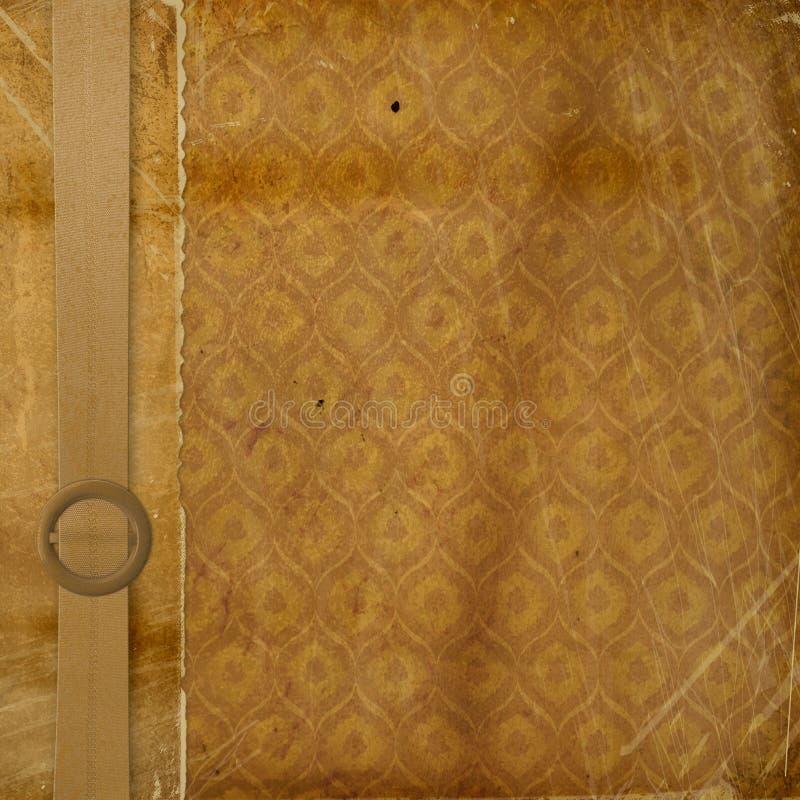 Grunge dekorative Abdeckung lizenzfreie abbildung