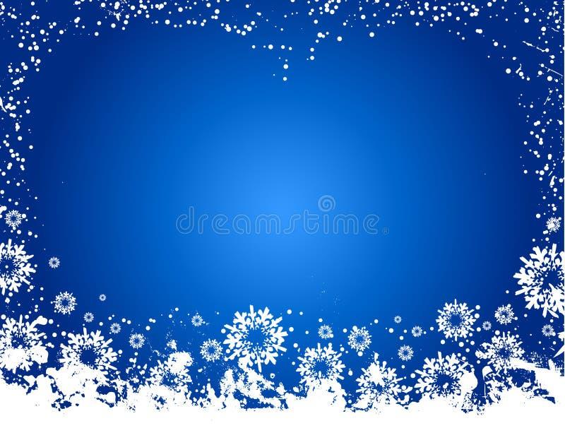 Grunge del copo de nieve ilustración del vector