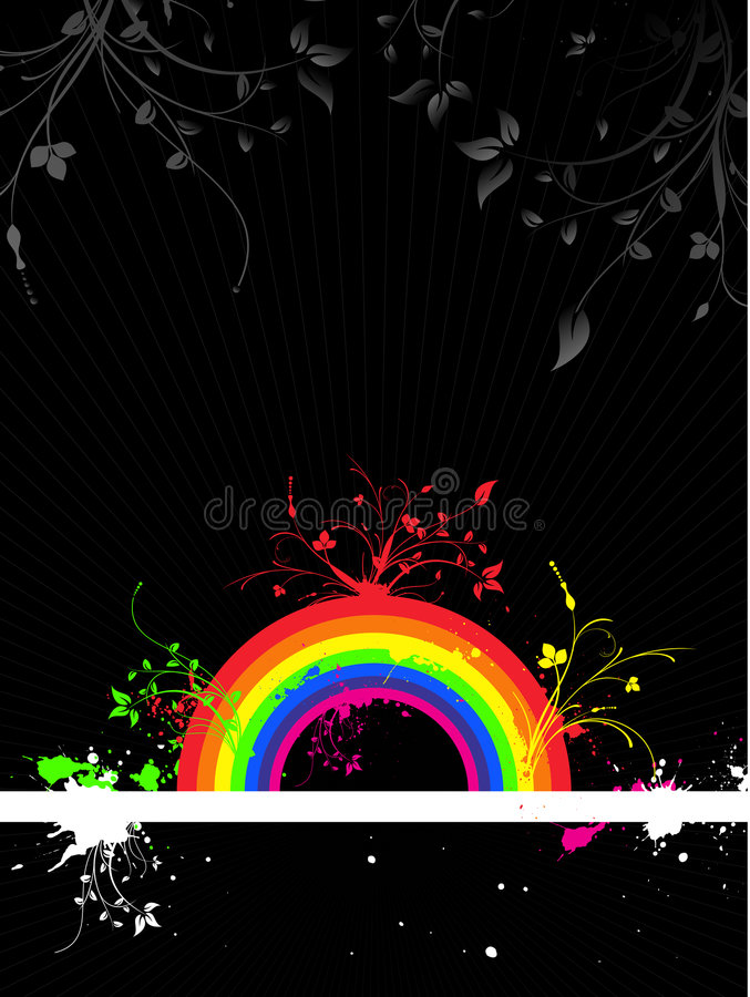 Grunge del Rainbow illustrazione di stock