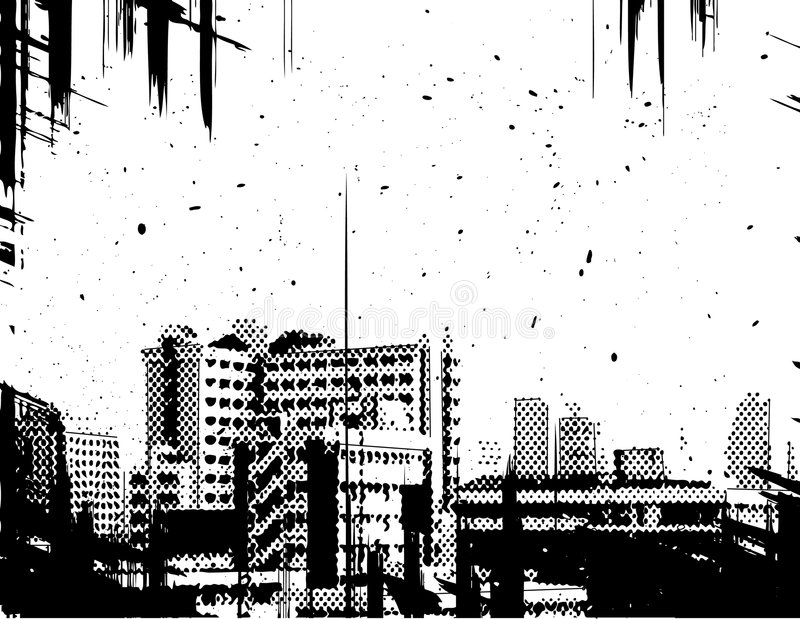 Grunge della città illustrazione vettoriale