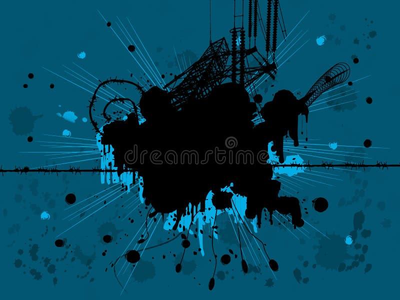 Download Grunge design stock illustration. Image of electricity - 3079811