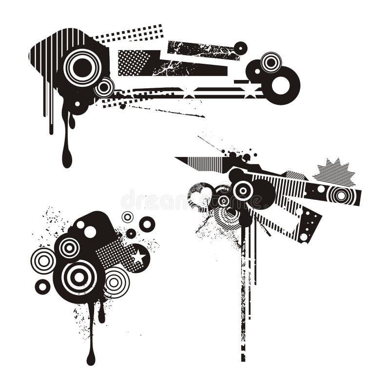 Grunge Design Elements. A set of abstract grunge design elements, series royalty free illustration