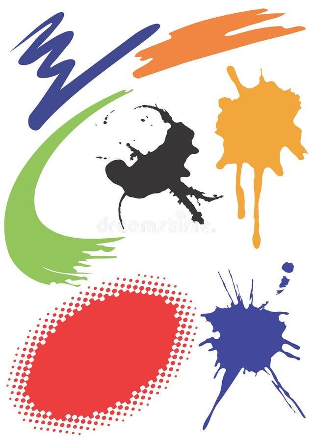 Grunge_design_elements ilustración del vector