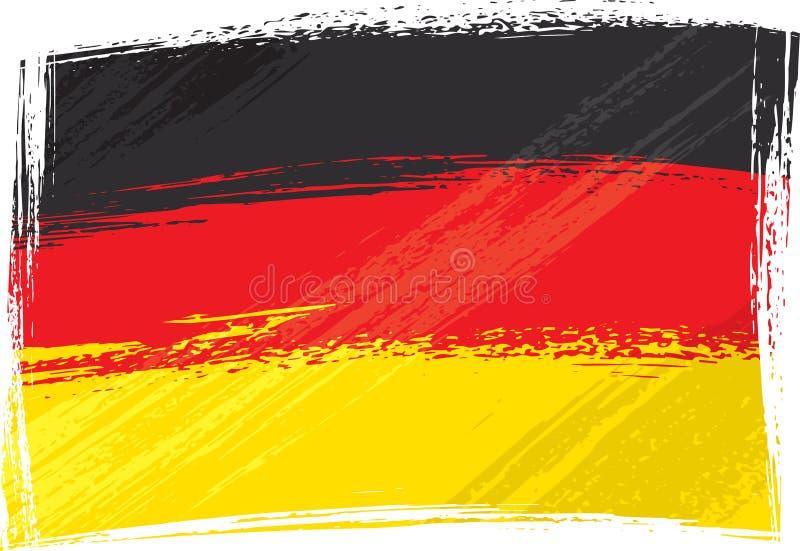 Grunge Deutschland Markierungsfahne vektor abbildung